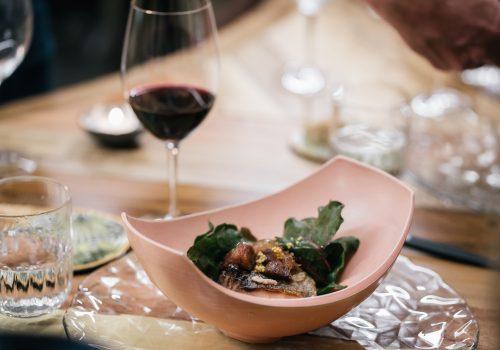 cena mesa del chef